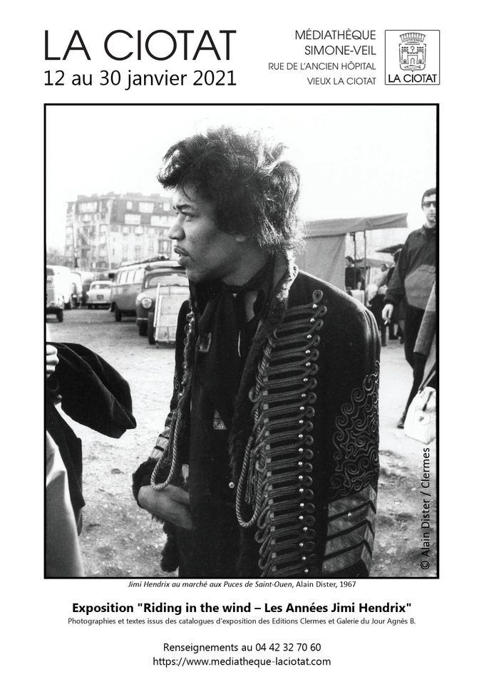 Exposition Riding in the Wind - Les Années Jimi Hendrix